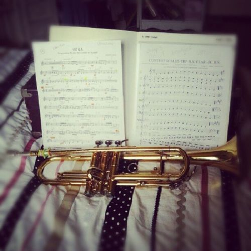 Practicing for solo and ensemble. Trumpetskickbrass Imcool Bandgeek Solo
