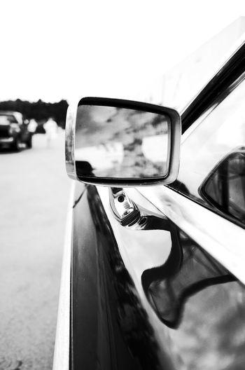 Retroviseur Retrovisor American Cars Streetphotography Blackandwhite Blackandwhite Photography Ricoh GR II Ricoh Gr2 RICOH GR 2 Contrast Land Vehicle Car Close-up Sky