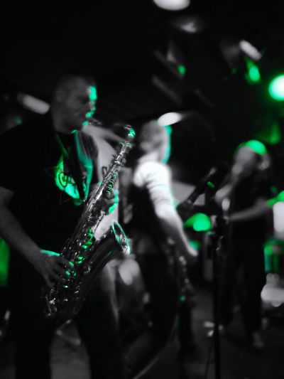 Music Nightlife London Rock Music Band Saxophone Green Color Night Artists Instrument Black Amd Green