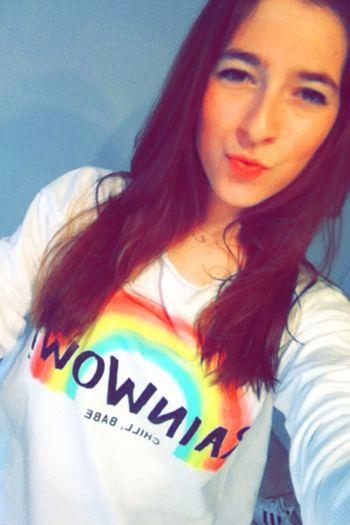 Rainbow Rainbow Girl Girl Frenchie French Girl Snapchat