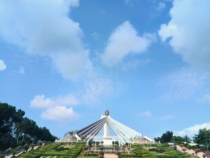 Divine Mercy EyeEmNewHere Divine Mercy Shrine Philippines El Salvador Arts Culture And Entertainment City Blue History Sky Architecture Cloud - Sky Built Structure Travel