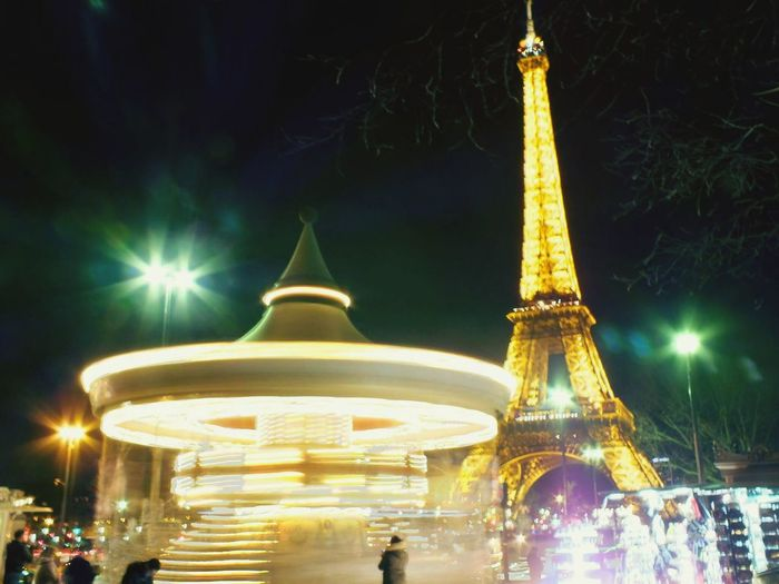 France Paris All The Neon Lights Effeil Tower & Bulb Mode ISO