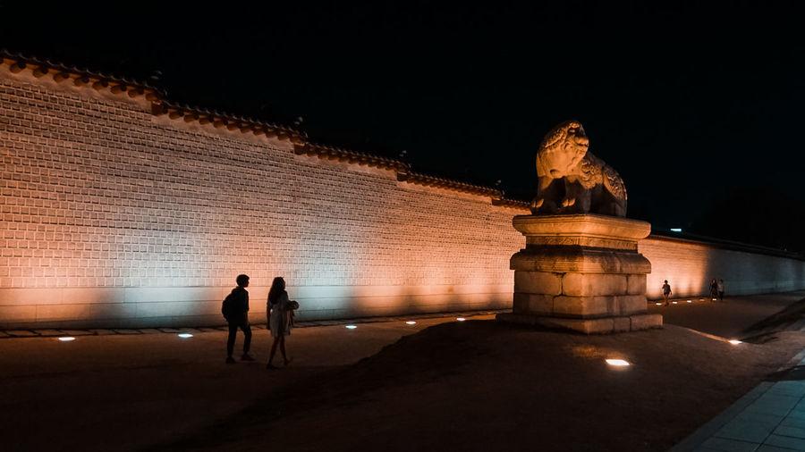 Night Architecture Built Structure Travel Destinations Tourism Sculpture Art And Craft Illuminated