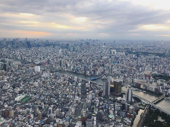 Viewfromthewindow At350meters Tokyoskytree Daytime