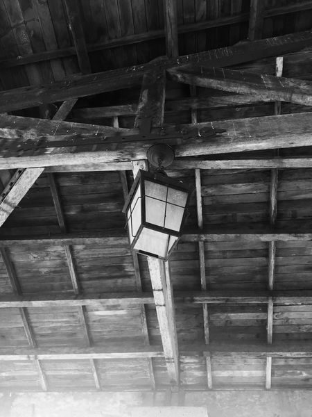 Old Spanish Roof Old Lamp Roof Woodenroof Wood Blackandwhite Check This Out Showcase July IPhoneography Park Historical Building EyeEm Guam Wooden Structure Hidden Gems