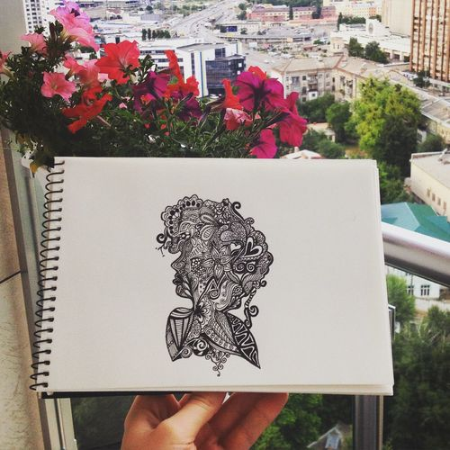 Check This Out Drawing My Hobby Lovetodraw Art, Drawing, Creativity Beautiful Nature Flowers Art Doodling Doodle Art
