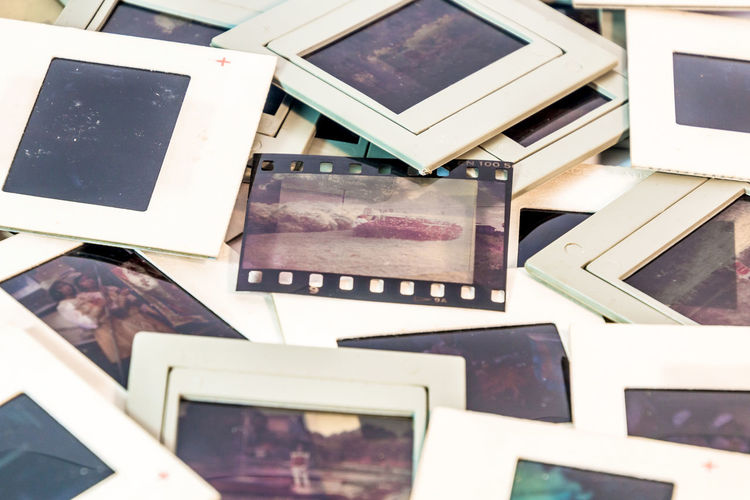 Color slide films used for professional in the past. 35mm; Border; Camera; Close-up Color; Film Slide; Filmstrip; Frame; Image; Media; No People Paper Frame; Photo; Photograph Picture Frame Plastic Frame; Positive; Retro; Retrospect; Strip; Vintage;