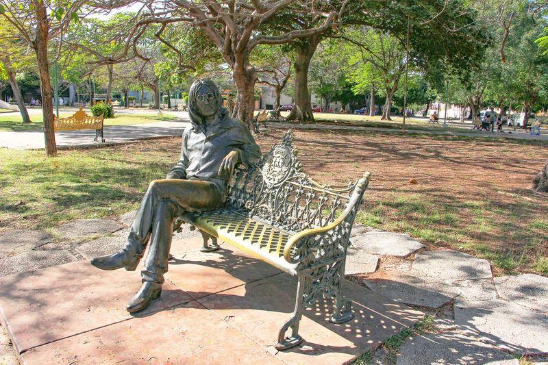 John Lennon John Lennon Park Havana Cuba Statue Bench