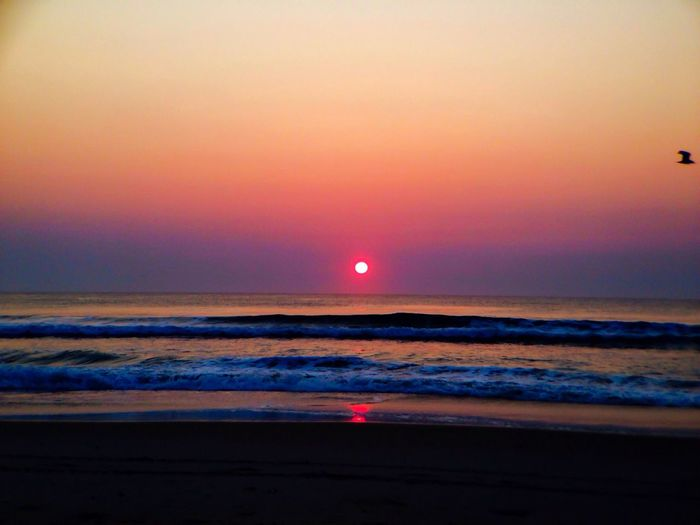 A gorgeous sunrise along the Outer Banks of North Carolina. Ips Sunrise Beach IPhoneography