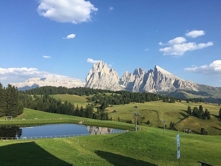 Needs no filter Dolomites, Italy Saslong Mountains Italy Landscape Peace Panorama Sunny Day