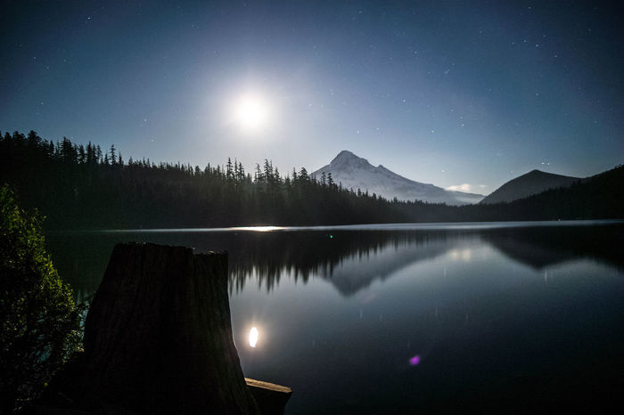 'I Dream of the Wild' - Lost lake, Oregon. First Eyeem Photo MtHood MtHoodOregon Lost Lake Nighttime Full Moon Landscape