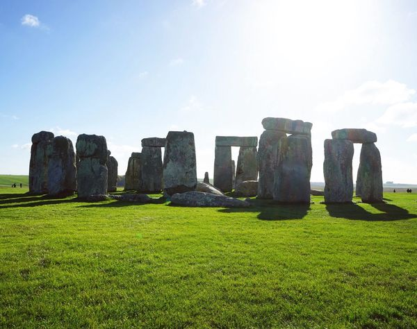 Grass Sky Green Color Travel Destinations Nature The Past Old Ruin Ancient Ancient Civilization History Outdoors Growth Architecture Built Structure No People Day Beauty In Nature Greenery Stonehenge Stones London United Kingdom Prehistoric Solstice Monument