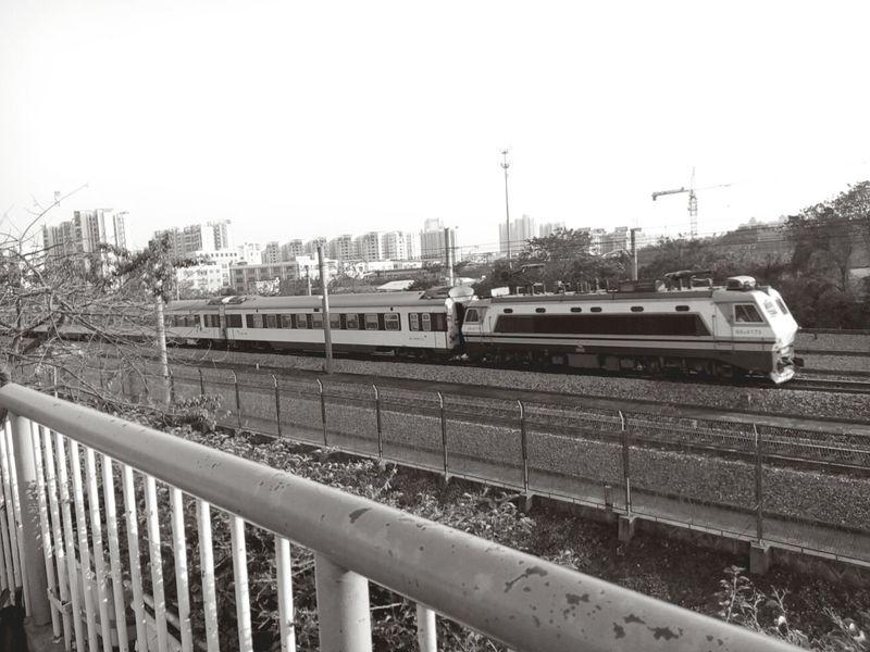 A train passing by. Train Guangzhou