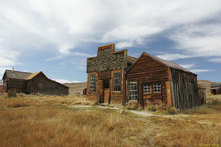 Ghost town of Bodie at an elevation about 8400 feet or 2550 meters give interesting photography result. Home sweet home, maybe not. Architecture Cloud Cloud - Sky Day Deterioration Field Grass Home Landscape Nature No People Obsolete Outdoors Rural Scene Sky The Old West The Past
