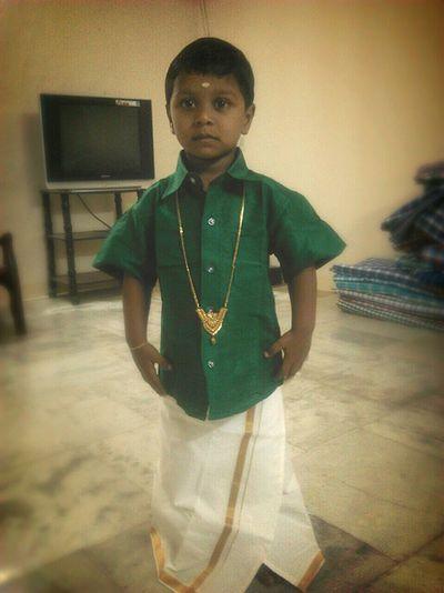 Striking Fashion Tamilboy Cuteboy Ornament Indianboy Traditionindia