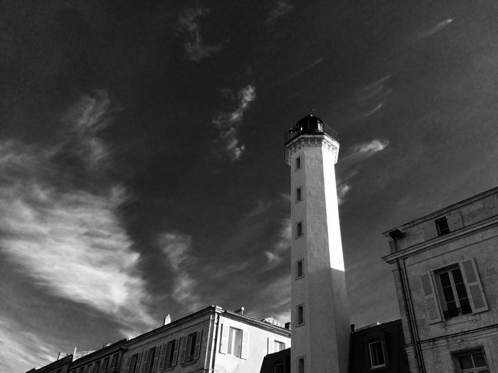 2016 Architecture Building Exterior Built Structure Low Angle View Sky Tower Cloud - Sky Cloud High Section Outdoors Cloudy Tall - High Exterior No People Black&white Black And White Photography Blackandwhite Photography Blackandwhite Black & White Black And White Lighthouse Le Phare Blanc Vieux Port Quai Valin
