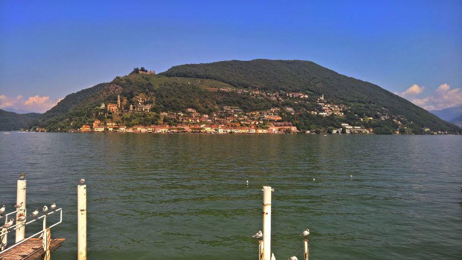 Lumia 950XL Water Tranquility Ticino Switzerland Sky Sea Scenics Outdoors No People Nature Morcote Lago Di Lugano  Day Beauty In Nature
