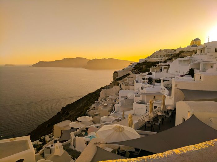 EyeEm Selects Paint The Town Yellow Santorini Greece Travel Destinations Travel Travel Photography Sunset No People Landscape