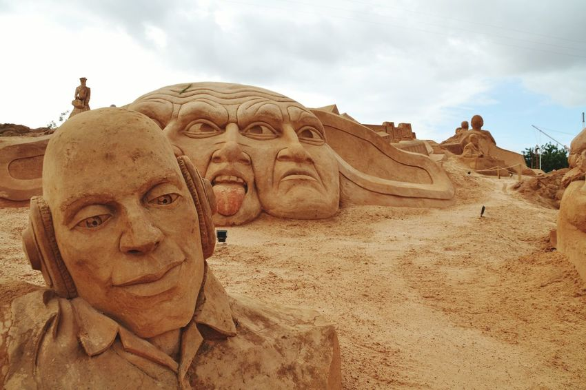 Sand Sculptures Sand Sculpture Sand Sand Sculpture Park Art Imagination Fantasy Human Representation No People