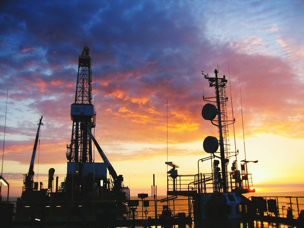 Oil and gas Sunset Technology Business Finance And Industry No People Tranquil Scene Love ♥ Sky Astronomy Nature People Natural Phenomenon Sea Coastline No Love </3 Soultravelers Multi Colored Boom Shaka Laka Silhouette Landscape Tranquility Illuminated
