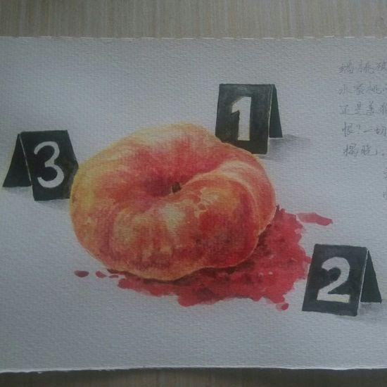 Art, Drawing, Creativity Drawing Peach