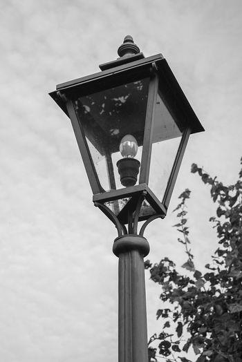 Street Lamp Helios Blackandwhite Schwarzweiß