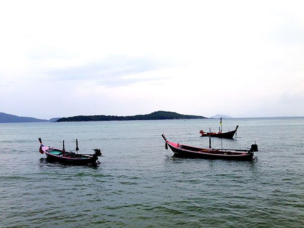 Thailand Taking Photos Boats Beach Ocean Enjoying Life Hanging Out Relaxing