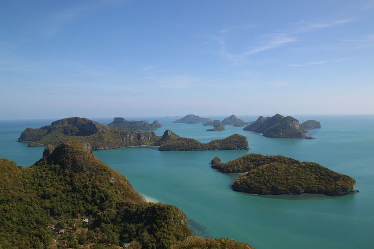 Mu Ko Ang Thong National Park Beauty In Nature Blue Horizon Over Water Island Nature Outdoors Sea Sky Tourism Travel Travel Destinations Vacations Water