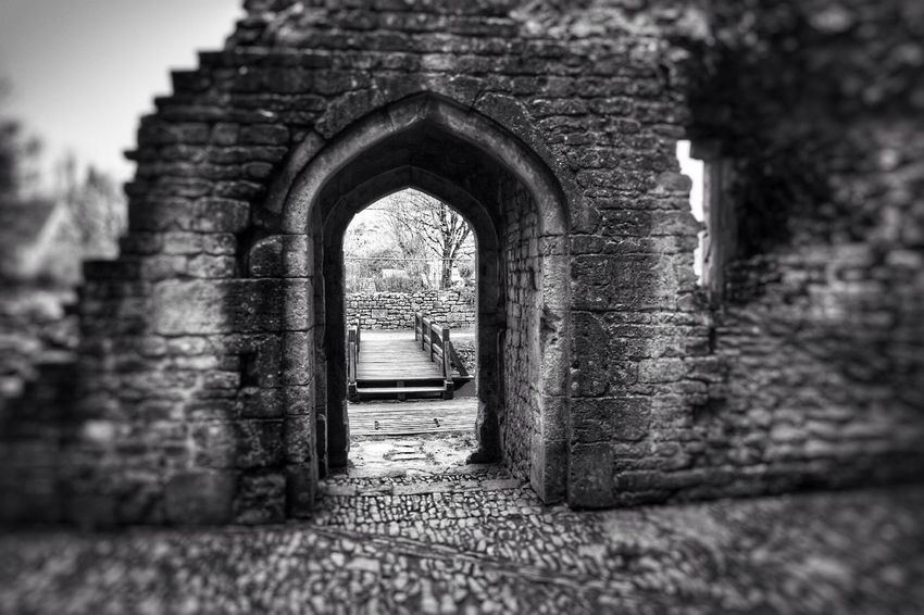 A bit of black and white. Looking Into The Future Lookingout Architecture Architecture_collection History Through The Lens  Doorway Archway Bridge Wall - Building Feature Stones Texture Castle Blackandwhite EyeEmBestPics Eyeemblack&white Black And White Friday