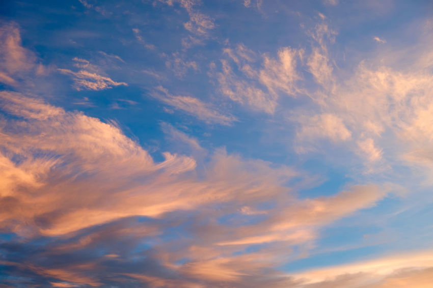 Backgrounds Beauty In Nature Blue Cloud - Sky Day Full Frame Low Angle View Nature No People Outdoors Scenics Sky Sky Only Sunset Tranquil Scene Tranquility