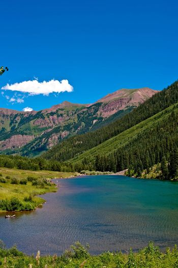 Been There. Colorado Beauty In Nature Blue Day Lake Landscape Mountain Mountain Range Nature No People Outdoors Scenics Sky Tranquil Scene Tranquility Tree Water Wilderness