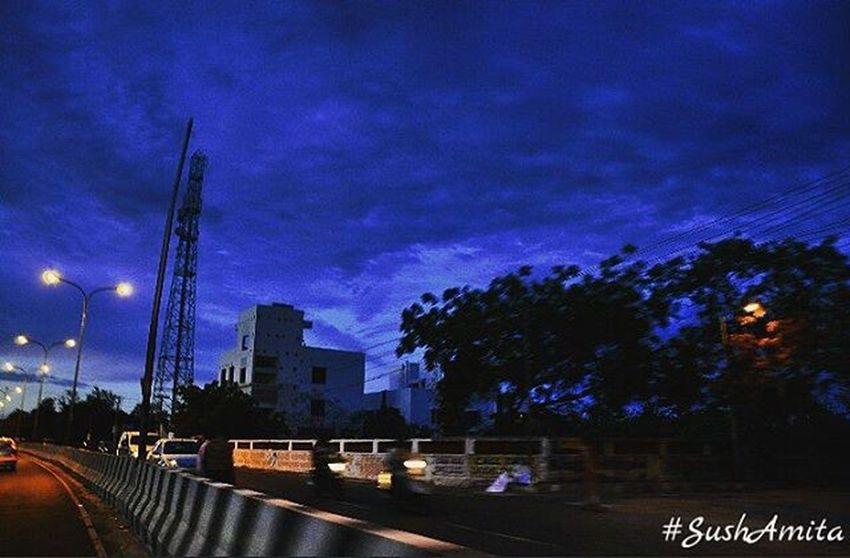 Sushamita MyClick Streetphotography Photographylovers Ecrroad ECR Ecrphotography Chennai Chennaiphotography Dslrphotography DSLR Nikondslr Nikonphotography Streetphotography Outdoorphotography NikonD5000 Blue Canopy Sky Silhouette Chennai Nammachennai Tamilnadu India Sochennai