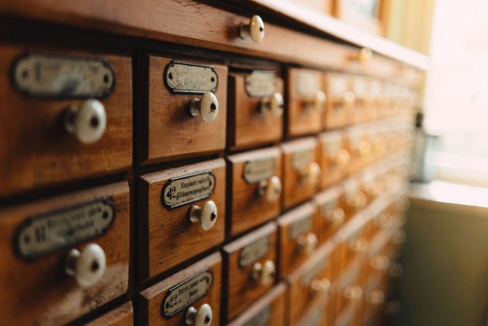 Inside Castle Antique Arrangement Close-up Communication Drawer In A Row Indoors  Letter Mail Metal Museum No People Number Old Order Protection Repetition Safety Security Selective Focus Wood - Material