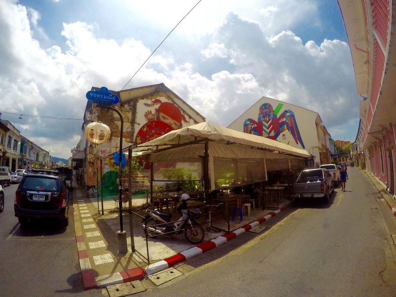 Chinoportuguese Phuketoldtown Painting Art Painting Mural Art Mural Phuket,Thailand Phuket