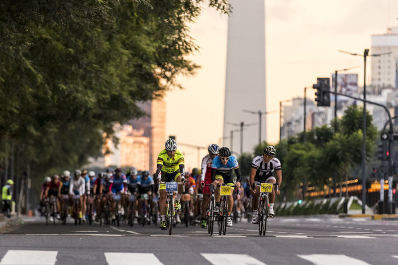 Gran Fondo de Buenos Aires 2015 Buenos Aires CyclingUnites Gran Fondo Activity Bicycle Bycle City Competition Crowd Cylcing Group Of People Land Vehicle Lifestyles Men Mode Of Transportation Outdoors People Plant Real People Riding Road Sport Sports Race Transportation Tree
