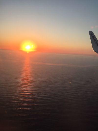 Sunset Sky Sun Beauty In Nature Scenics - Nature Orange Color Tranquility Lens Flare Outdoors Nature Sea Sunlight Tranquil Scene Water Horizon Horizon Over Water Sunbeam Idyllic No People Reflection