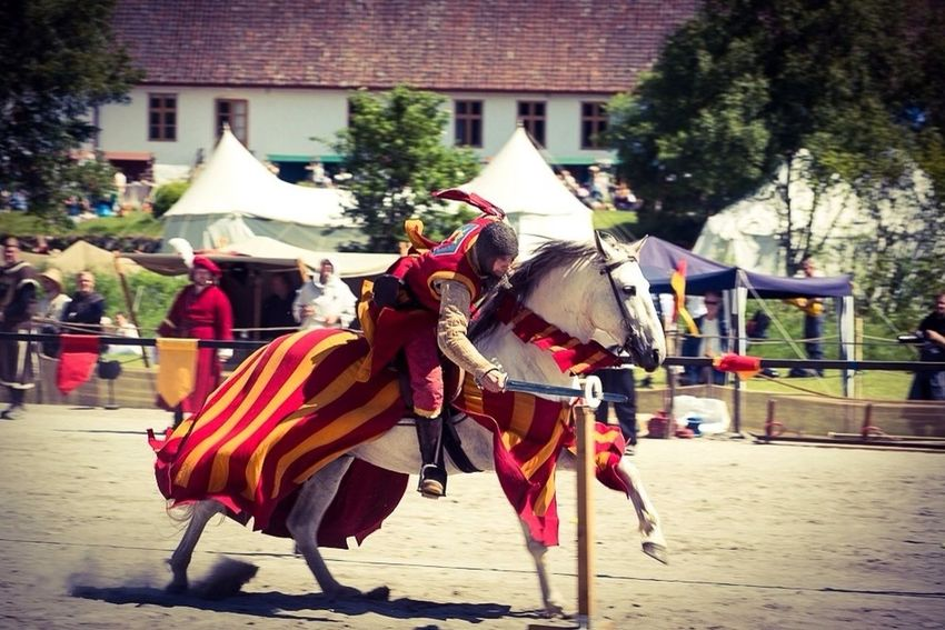 A goal is not always meant to be reached, it often serves simply as something to aim at. Horse Aim Medieval Tournament