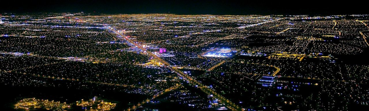 Landline Darkness And Light L.V  Little Town From An Airplane Window 24/7 Business In Order