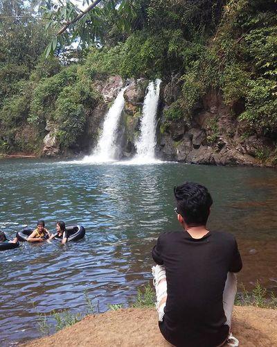 Enjoying the scenery. BackLa Falls