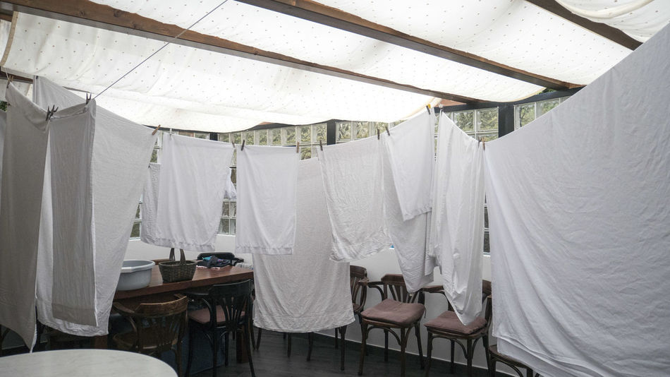 Curtain Day Drying Hanging Indoors  No People Sheet Textile