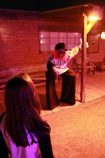 Saguaro National Park West Halloween 2014 Old Tucson Studios OldTucson Clown Arizona Old West  Horror Halloween Horrors