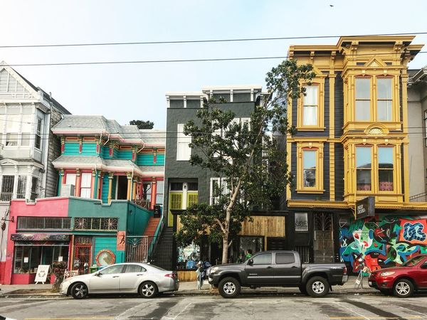 A day in Lower Haight Colorful Buildings Haight Street Pink San Francisco San Francisco Architecture Teal Architecture Building Exterior City City Life Lifestyle Photography No People Street Street Photography Yellow