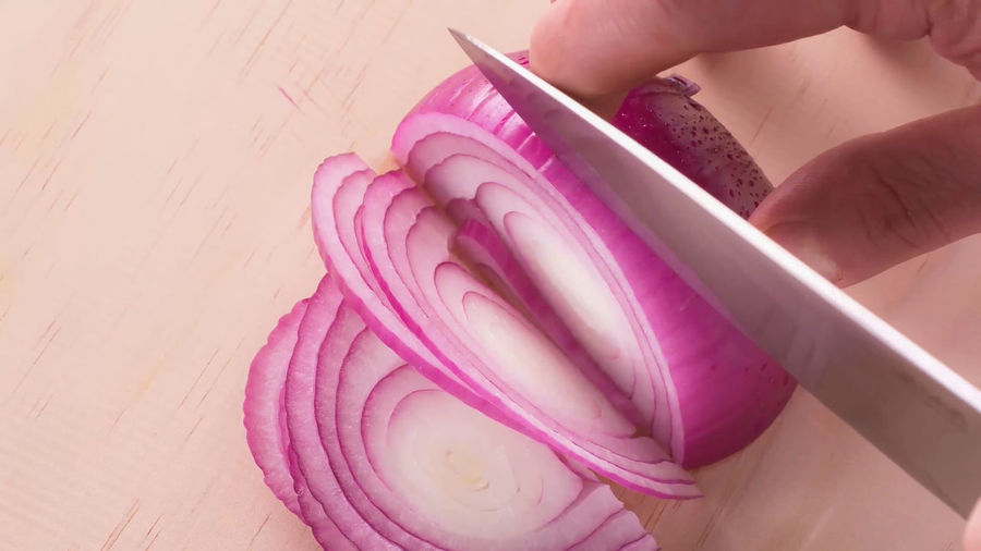 Background Board Bright Chef Chopped Chopping Close Cooking Cooking Utensil Cut Cutting Delicious Diced Fingers Food Fresh Gastronomy Hand Healthy Horizontal Kitchen Knife Nutrition Onion Organic person Prepare Preparing Purple Raw Red Red Onion Ring Section SLICE Sliced Slicing Table Tropea Veg Vegan Vegetable Vegetarian Veggie Wethersfield White Wood Wooden