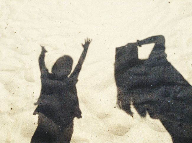 Shadow Selfie <3 Relaxing Sea Enjoying The Sun Sunshine Swimming Surfing Beachwalk Getting A Tan Sandcastles Beach Babe First Eyeem Photo