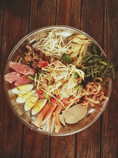 Food And Drink Food Indoors  Healthy Eating Table Bowl Freshness No People Ready-to-eat Wood - Material Close-up Day ตำถาด