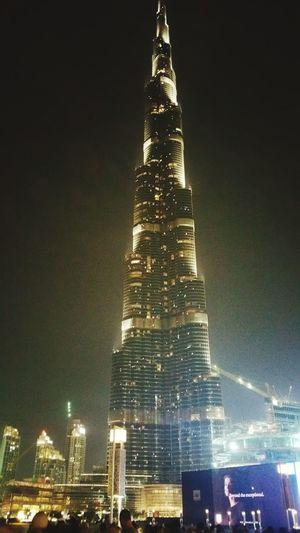The beautiful Burj Kalifa tallest building in the world! City Architecture Travel Destinations Built Structure Low Angle View Outdoors Sky Urban Skyline No People Building Exterior Skyscraper Tree Illuminated Cityscape Night Tower Dubai Dubai Burj Khalifa Dubai Fountain
