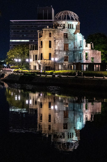 Reflection Night Architecture Water Building Exterior Built Structure Illuminated Building Waterfront Lake No People Nature City Travel Destinations History The Past Sky Outdoors