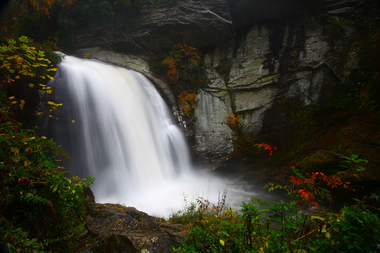 Looking Glass falls Beauty In Nature Blurred Motion Flowing Water Long Exposure Outdoors Rock Scenics - Nature Waterfall