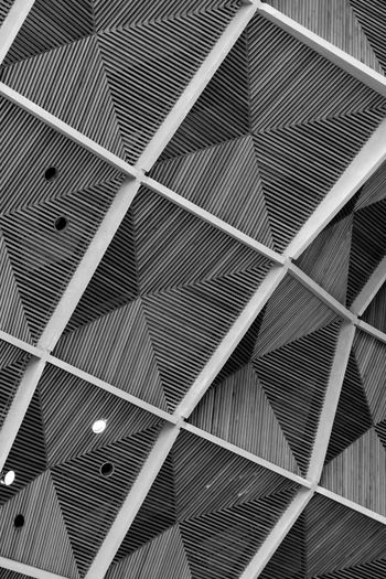 Backgrounds Black & White Ceiling Design Coventry Cathedral - UK Day Indoors  Modern No People Pattern Repetition Textured
