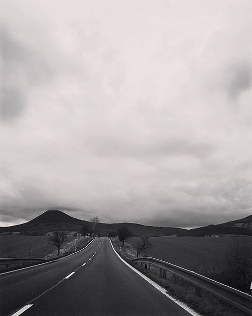 endless Transportation Road The Way Forward Highway Road Marking Sky Mountain No People Road Trip Car Cloud - Sky Landscape First Eyeem Photo